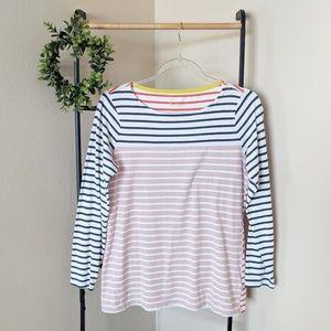 Boden | Long Sleeve Striped Multi Tee M